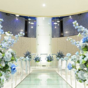 ホテル併設のチャペルで、荘厳な雰囲気でのウェディングが実現 ホテルグランドプラザ浦島の写真(4396825)