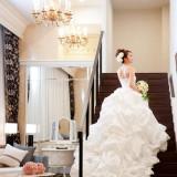 #ウェディングドレス#白いドレス#階段