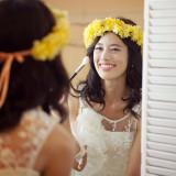 自然と笑顔が溢れだす、花嫁だけの特別なメイク