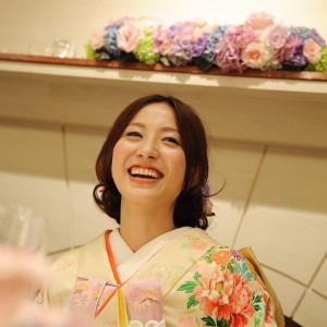 引振袖とお花の相性バッチリ!統一感のあるコーディネート♪ 赤坂ル・アンジェ教会の写真(359811)