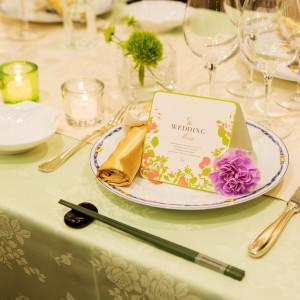 お箸で食べられるフレンチは幅広い年齢層のゲストに大好評♪|赤坂ル・アンジェ教会の写真(1827973)