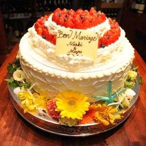 ケーキ周りのデコレーションで季節感を演出☆ 赤坂ル・アンジェ教会の写真(1827910)