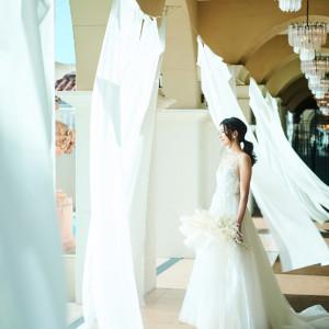 【憧れの花嫁体験♪】JUNOドレス試着&大聖堂見学!無料フルコース試食