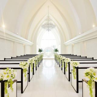 ◆チャペル重視◆花嫁評価◎#フォトジェニック#光#青空#純白