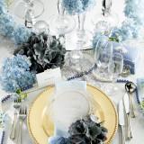 シンデレラ風コーディネート。白とサムシングブルーを基調とした上品かつキレイ目な雰囲気に
