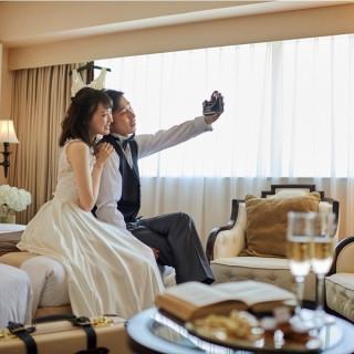 ご結婚式当日の新郎新婦様のご宿泊をプレゼント!