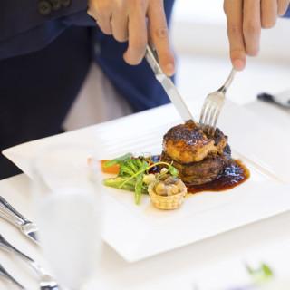 結婚式当日提供されるフランス料理を無料で試食できる♪