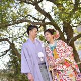 やっぱり着たい憧れの和装も、優しい色合いでお洒落な雰囲気