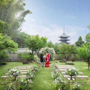 【庭園挙式】八坂の塔を臨む通常非公開の舞台 大切な家族に感謝を伝える新たな庭園挙式が誕生|ザ ソウドウ 東山京都(THE SODOH HIGASHIYAMA KYOTO)の写真(5815261)