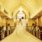 県内最大級を誇る20mのバージンロードは新婦様の今までの人生を表します