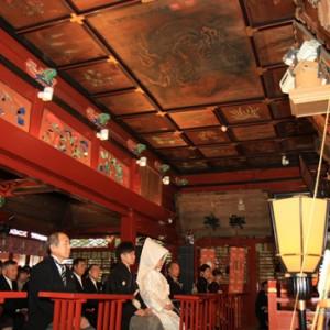 冠稲荷 拝殿(市重文)での挙式は厳かに 冠稲荷神社 宮の森迎賓館 ティアラグリーンパレスの写真(267797)