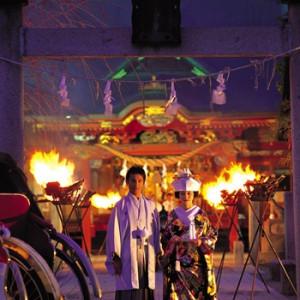 幻想的なかがり火挙式 冠稲荷神社 宮の森迎賓館 ティアラグリーンパレスの写真(267800)