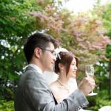 ガーデン乾杯!ゲスト全員とグラスを合わせて「おめでとう」