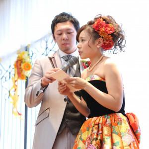 花嫁からの感謝メッセージ 新郎様もご一緒に心添えて|リッツガーデンハウスアヴェニューの写真(767341)