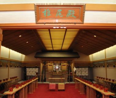 館内にある「椎尾殿」では本格的な神前結婚式も叶う