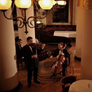 専属のミュージシャンによるヴァイオリン・ピアノ・チェロの生演奏