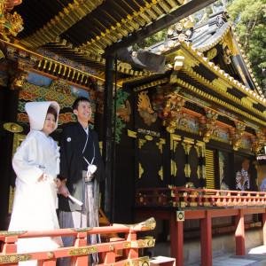 【久能山東照宮】 国宝でもある久能山東照宮本殿での神前式|日本平ホテルの写真(305836)
