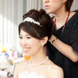 専属のヘアメイクスタッフが一日中花嫁の美をサポート