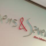 sens(サンス)感覚・五感 et/&(エ) saveurs(サヴール)味・味わう 「五感で楽しむ」という意の店名