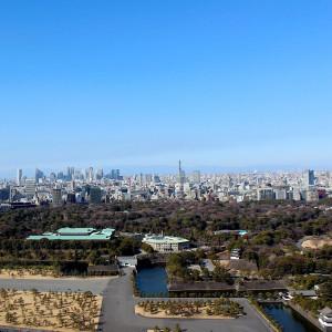 皇居、東京タワー、晴れた日には富士山も。東京随一の眺望がゲストのおもてなしに。|サンス・エ・サヴール(ひらまつウエディング)の写真(3953228)