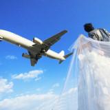 大阪空港の近くだからこそ大迫力の1ショットも☆飛行機とのお写真も前撮りならでわ!!