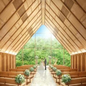 【4万円ペアディナー券】森のチャペル模擬挙式×フレンチ試食