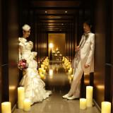 披露宴会場「ヴィクトリア」の回廊にキャンドルを並べてゲストをお迎えしてみたはいかがでしょうか??