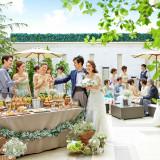 会場に併設された貸切ガーデンでは、ドリンクやおつまみの提供も可能です