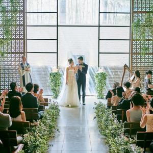 【人気No1】 緑と自然光溢れるチャペル見学×2万円婚礼試食フェア
