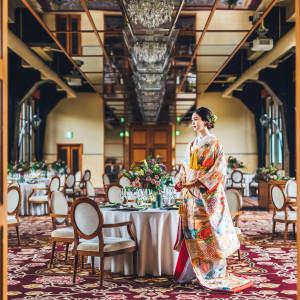クラシカルモダンな空間は和装も美しく映える|ASHIYA MONOLITH 旧逓信省芦屋別館 ~芦屋モノリス~の写真(5335714)