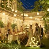 【Milano邸】ガーデンも夜になれば、別の顔に。ライトアップしているガーデンでゲストと楽しく過ごしてみては