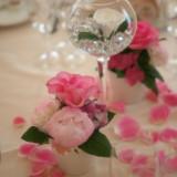 ゲストフラワーはグラスに入ったフラワー以外にもたくさんバリエーションがございます。