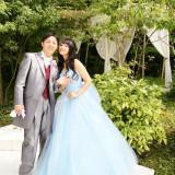 シンデレラをイメージさせるブルーのプリンセスドレス