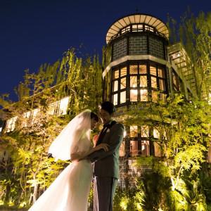 ライトアップされた洋館は幻想的でロマンティック|THE KAWABUN NAGOYA(ザ・カワブン・ナゴヤ)の写真(5345878)