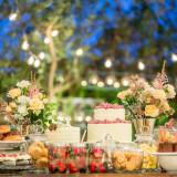 テラスに現れるデザートブッフェは女性に大人気!自由なパーティースタイルを楽しんで♪
