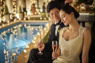 煌めくキャンドル演出! アクアテラス迎賓館(新横浜)の写真(4341126)