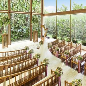 中庭にそびえる大階段の先、最上階に位置する神聖なプライベートチャペル アクアテラス迎賓館(新横浜)の写真(4331028)