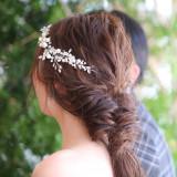 ゆるふわなヘアセットは新婦様の優しい雰囲気を表現できます。