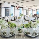 白×グリーンで爽やかな雰囲気にするのも人気!