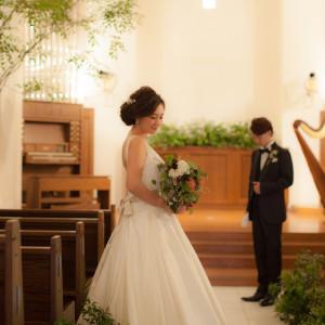 チャペルにて前撮り。|GARDEN WEDDING アルカディア小倉の写真(1028156)