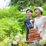 #ケーキ入刀#ネイキッドケーキ#自然#日比谷公園内#ガーデンパーティー#ナチュラル#緑に包まれて#リラックス