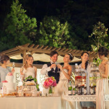 ガーデンでのナイトパーティー♪ 花火やライティングで気持ちも高まる!