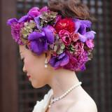 花嫁の美しさを際立たせるヘッドデコラ