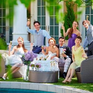 プライベートガーデンで叶うパーティーは、ゲストとの距離が近いアットホームな披露宴に♪