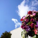 大きな青空に映える色鮮やかなガーデンフラワーでお出迎え!