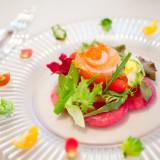 美しいオードブルはフルコースのスタート これから始まるお料理の期待を高めてくれます
