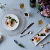 お食事 青天の霹靂を使用したリゾットや可愛らしい手まり寿司