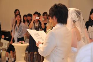 指輪の交換と誓いの言葉|挙式専門オワゾブルーの写真(960033)