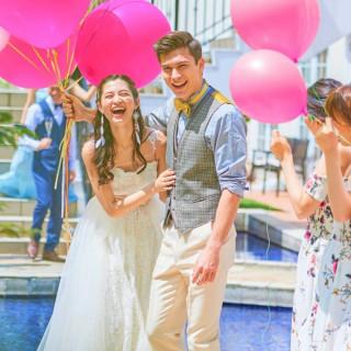 【5月最大※2万円試食付】水辺の貸切リゾート×ドレス花嫁体験