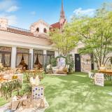 収容人数130名までOKの邸宅は専用ガーデン付。